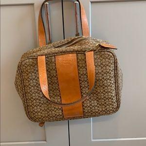 Vintage Coach Makeup Bag